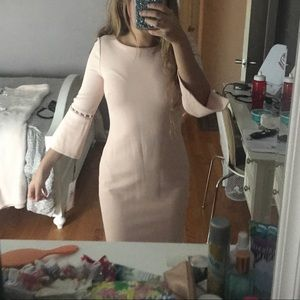 Calvin Klein Bell Sleeved Dress